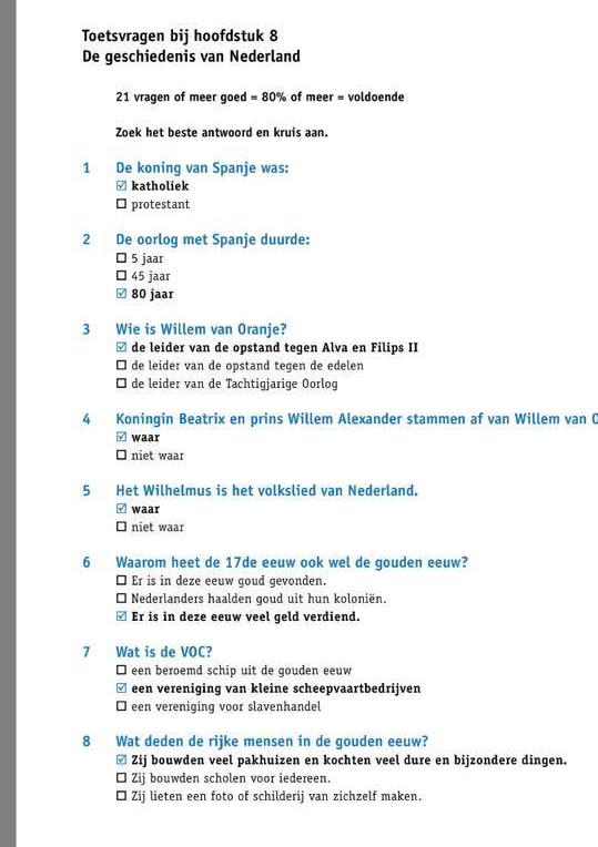 الجزء الاول : اسئلة تدريب علي نموذج امتحان KNM في اللغة الهولندية
