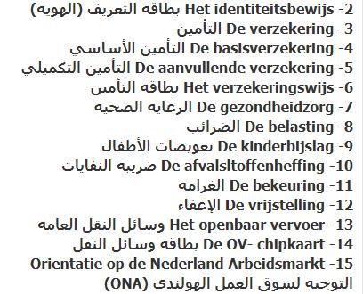 أهم 20 كلمة كثير ما تستخدمهم في اللغة الهولندية