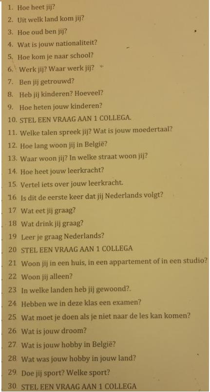 21جمل مهمة باللغة الهولندية